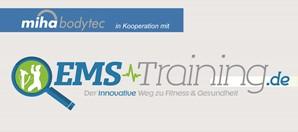 miha bodytec unterstützt den Start der Seite ems-Training.de