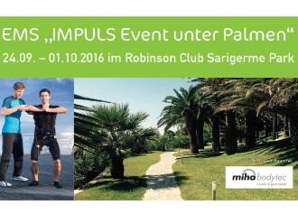"""Vom 24.9.-01.10.16 findet das EMS-Event """"IMPULS"""" unter Palmen statt"""