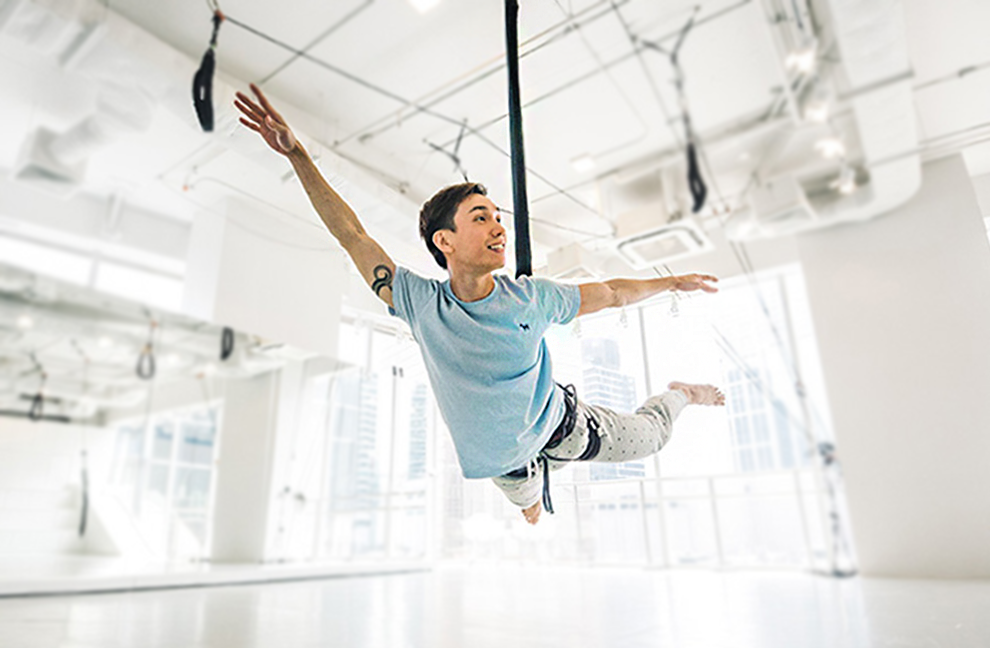 Der neuste Trend heißt Bungee Dance und kommt aus Bangkok. Entwickelt wurde das Konzept von dem Profitänzer Sivavut Mathong