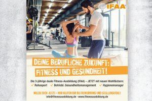 Die IFAA sucht: Fitness-Auszubildende PLUS GESUNDHEIT